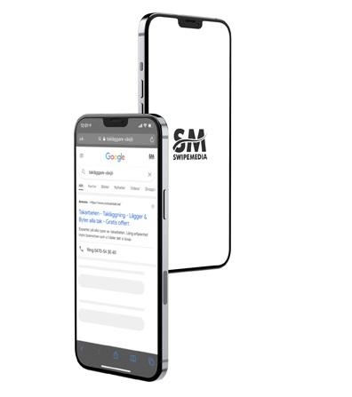 2 mobiler som visar vad digitala annonser innebär